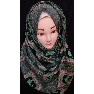 Cotton wrap hijab - Green G