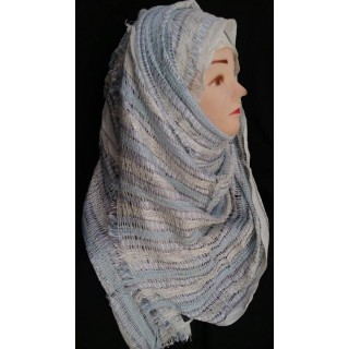 Silver party wear hijab - Cotton Fabric
