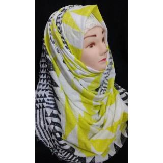 Hijab graphics printed- Cotton Fabric