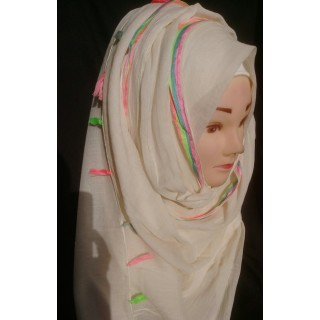 Cream colored hijab- Cotton Fabric