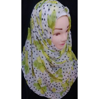 Lemon printed Hijab - Chiffon Fabric