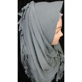 Grey Color Hijab - Jersey Fabric