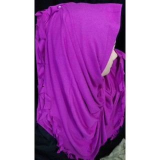 Solid orchid hijab - Jersey fabric