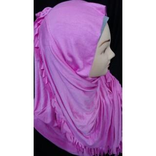 Pink  jersey wrap hijab