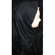 Premium jersey wrap hijab - Jet Black