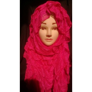 Mangenta frill Fancy Hijab