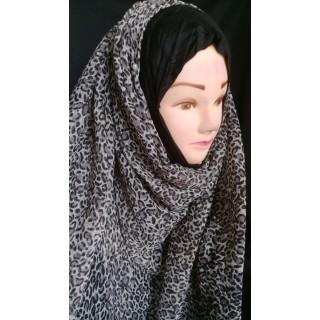 Cheetah Print Mariam hijab- Fabric Georgette
