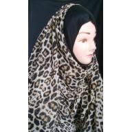 Tiger Print Mariam hijab- Fabric Georgette