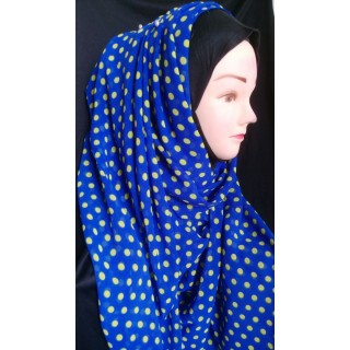 Mariam hijab - Yellow polka printed in Georgette