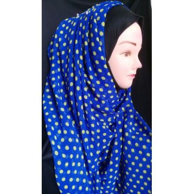 Mariam hijab - Yellow polka printed in Georgette