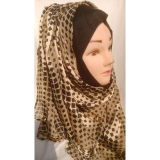 Satin stripped  Mariam hijab- Georgette Fabric