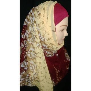 Mariam hijab - Floral printed in Georgette