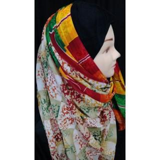 Printed Mariam hijab - Multi colored
