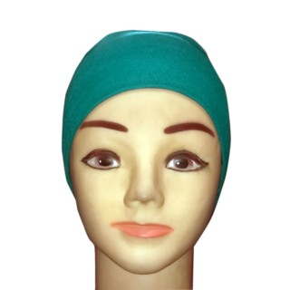 Under scarf - Teal Green colored hijab cap in jersey fabric