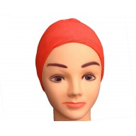 Under scarf - Red colored hijab cap in jersey fabric