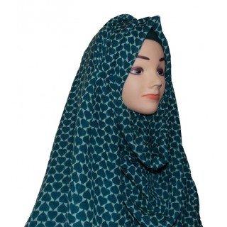Nile blue wrap hijab - Cotton linen
