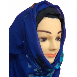 Spring-Fresh Royal blue Mariam Hijab- Chiffon