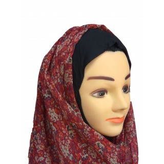 Mariam Hijab- brick red color in Chiffon
