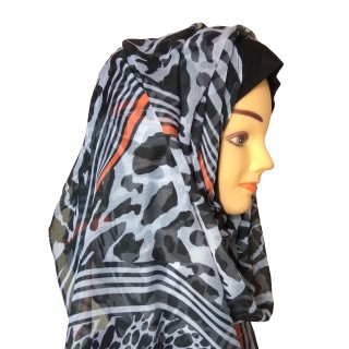 Mariam hijab- Spring fresh black and white