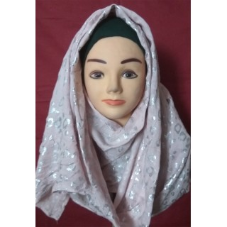 Light Pink Colored Party Wear Hijab