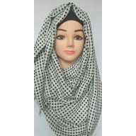 Black Polka dots both side wearable hijab