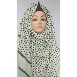 Beautiful Black Polka Dots Winter Hijab
