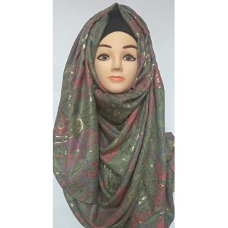 Party Wear Printed-Cotton Hijab