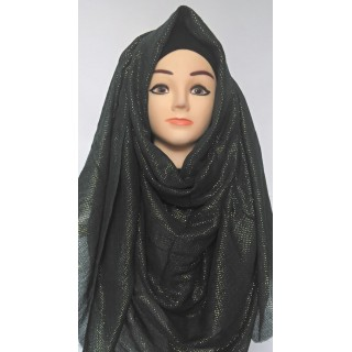 Black Glitter Party Wear Hijab