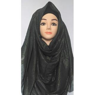 Black Glitter Party Wear Hijab