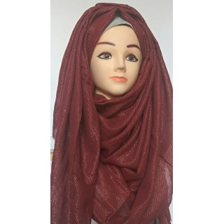 Maroon Glitter Party Wear Hijab