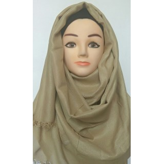 Cotton hijab - Golden Shimmer Party Wear Hijab