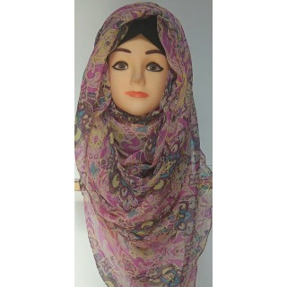 Light Purple Jasmine Print Mariam Hijab