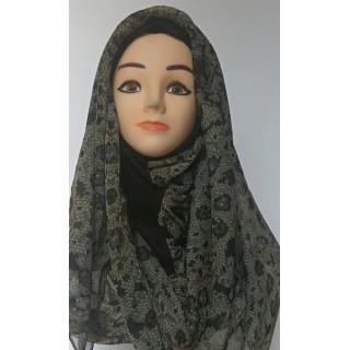 Black Graphical Print Mariam Hijab