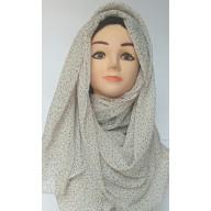 Off White Printed Mariam Hijab