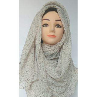 Off White Printed Mariam Hijab