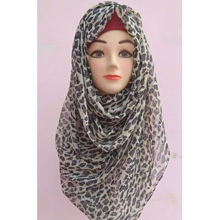 Mariam hijab - Cheeta Print Light Weight Georgette Hijab