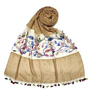 Designer Flower Aari Diamond Collection -Light Brown