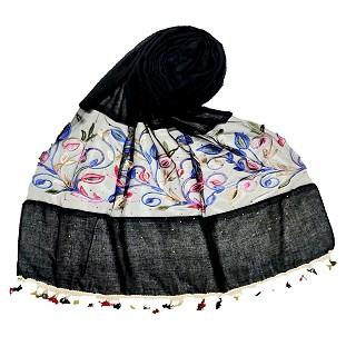 Designer Flower Aari Diamond Collection - Black