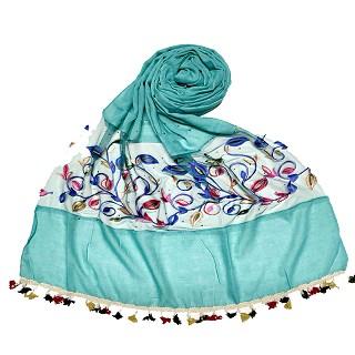 Designer Flower Aari Diamond Collection - Sea Green
