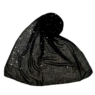 Premium Cotton rain drop Hijab - Black