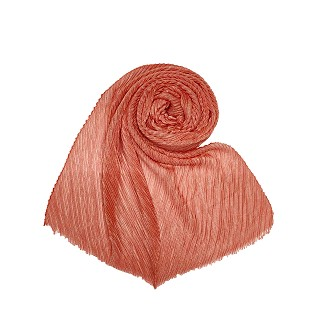 Crinkled glitter hijab - Orange