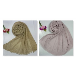 Combo Pack- 2 Crinkled Cotton Mesh Sparkling  Women's Stole