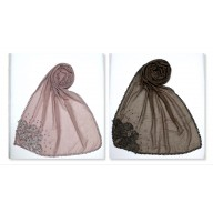 Combo pack- 2 Designer diamond studed stole