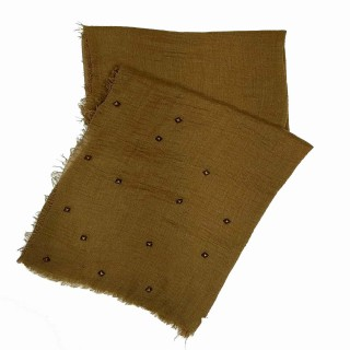 Designer crush star-studded scarf  | Brown