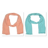Combo Pack-2 Premium Satin Plain Women's Stole