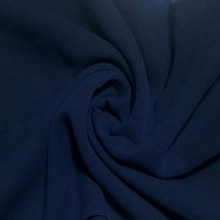 Plain Chiffon Scarf - Navy Blue