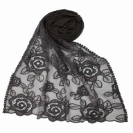 Designer Cotton Stole - Grey