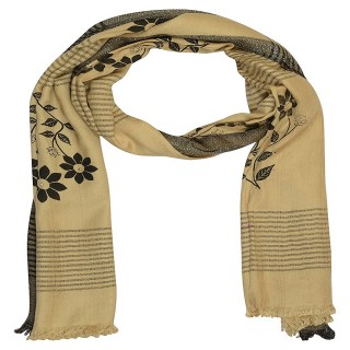 Premium Rolex Border Stole-Brown