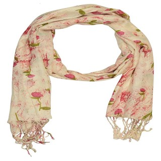 Big Cotton Stole- Rose Printed