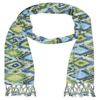 Printed Cotton Shaded Stole-white